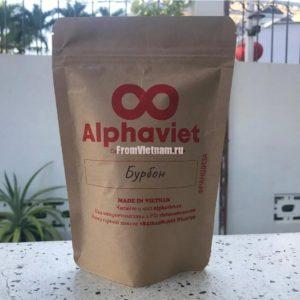 Кофе Бурбон в зернах АльфаВьет 200г