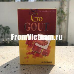 Go Gout для лечения подагры и артритов 60 капсул