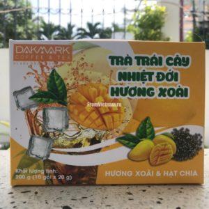 Фруктовый чай с Манго и семенами Чиа Dakmark 10 пакетиков