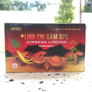 Linh Chi Sam OPC Гриб Линчжи с Женьшенем 50 капсул