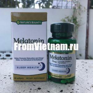 Melatonin 5mg Мелатонин 60 капсул