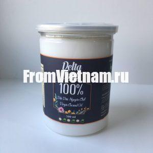 Delta Coco натуральное кокосовое масло пищевое или для наружного применения 500 мл